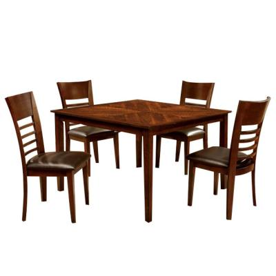 Hillsview i Brown Cherry Dining Table Set (5-Piece)