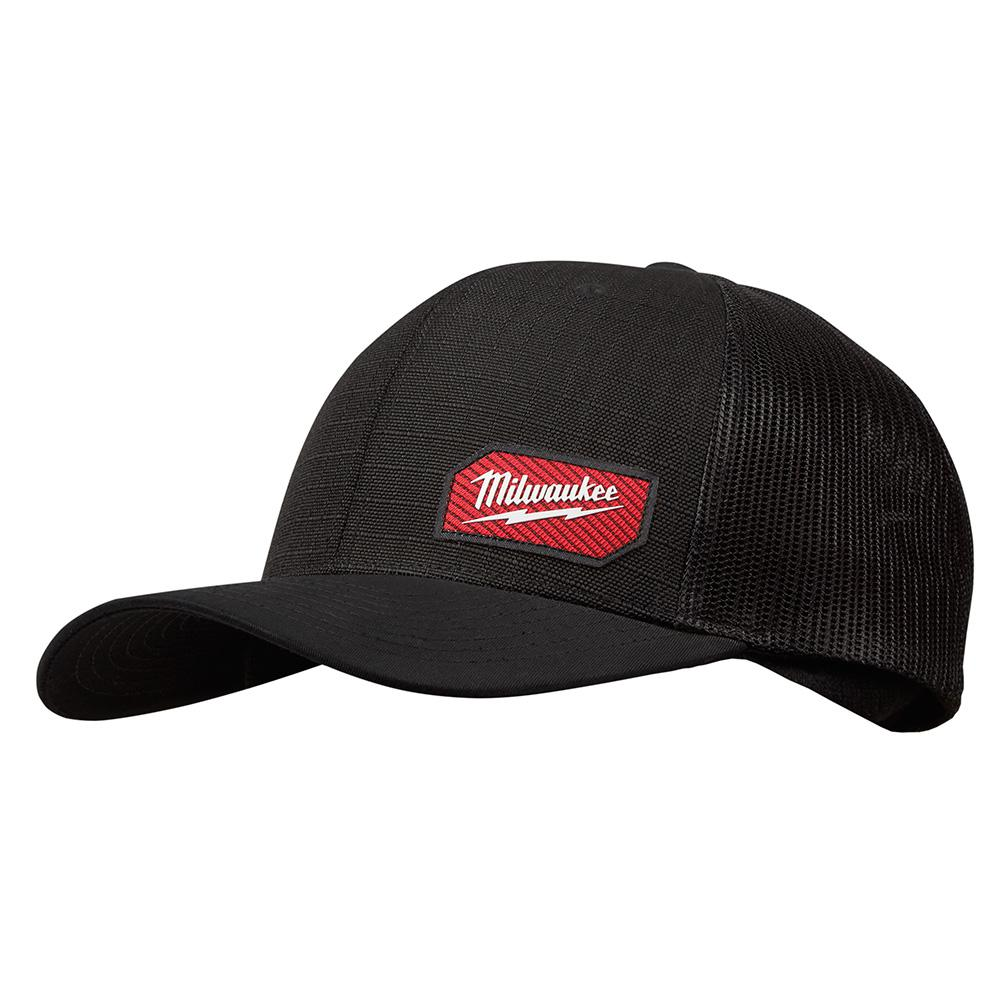 12734769f0dd11 Milwaukee Gridiron Black Adjustable Fit Trucker Hat-505B - The Home ...
