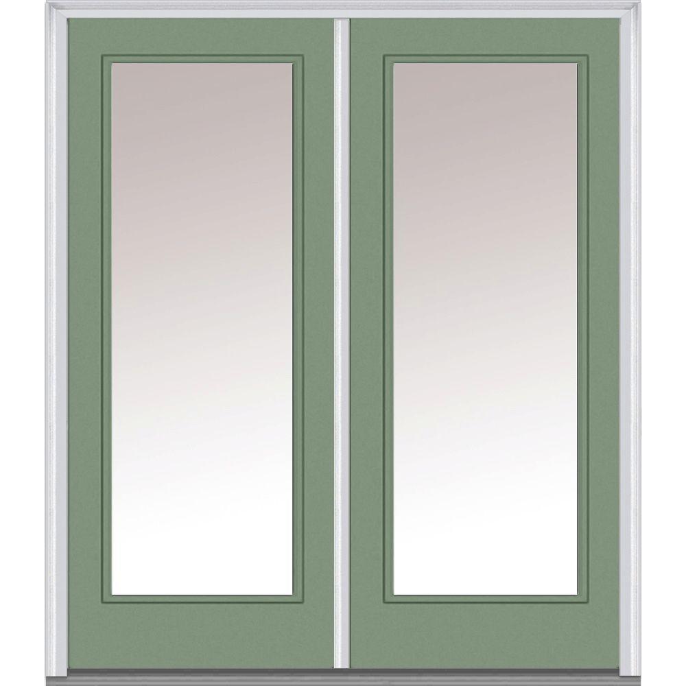 Mmi door 72 in x 80 in glass right hand full lite clear for 72 x 80 exterior door