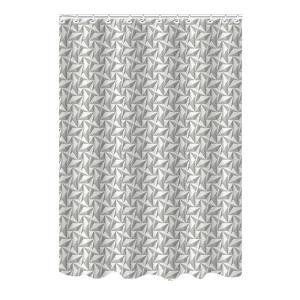 Bath Bliss Bamboo 72 inch Gray Polyester Pinwheel Shower Curtain by Bath Bliss