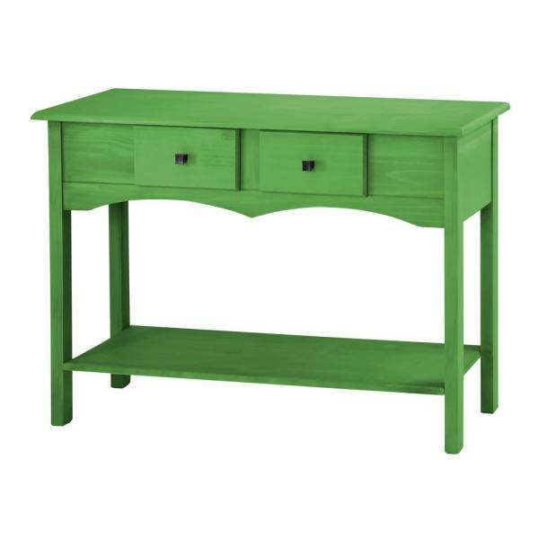 Manhattan Comfort Jay 49.21 in. Green Wash Sideboard Entryway with 2-Full Extension Drawers