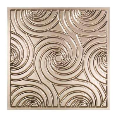 Typhoon - 2 ft. x 2 ft. Brushed Nickel Lay-in Ceiling Tile
