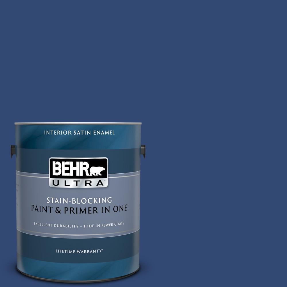 Navy Blue Satin Enamel Interior Paint