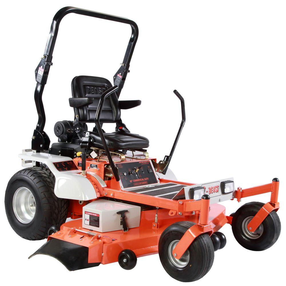 Beast 62 in. Zero-Turn Commercial Mower Powered by a Briggs and Stratton, 30 HP Turf Engine with free Rollbar and Headlights