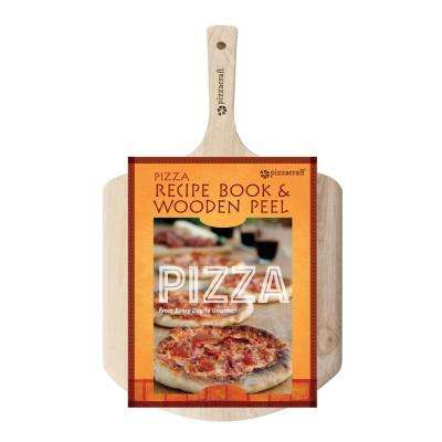 2-Piece Pizza Peel with Recipe Book