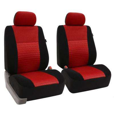 Fabric 47 in. x 23 in. x 1 in. Deluxe 3D Air Mesh Front Seat Covers