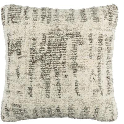 Ellerman Gray Graphic Polyester 20 in. x 20 in. Throw Pillow