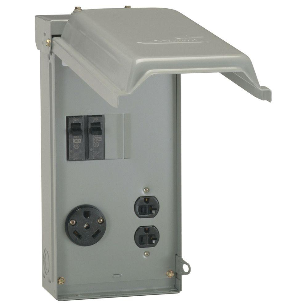ge power inlets u041cp 64_1000 ge 70 amp power outlet box u041cp the home depot Leviton 20 Amp GFCI at fashall.co