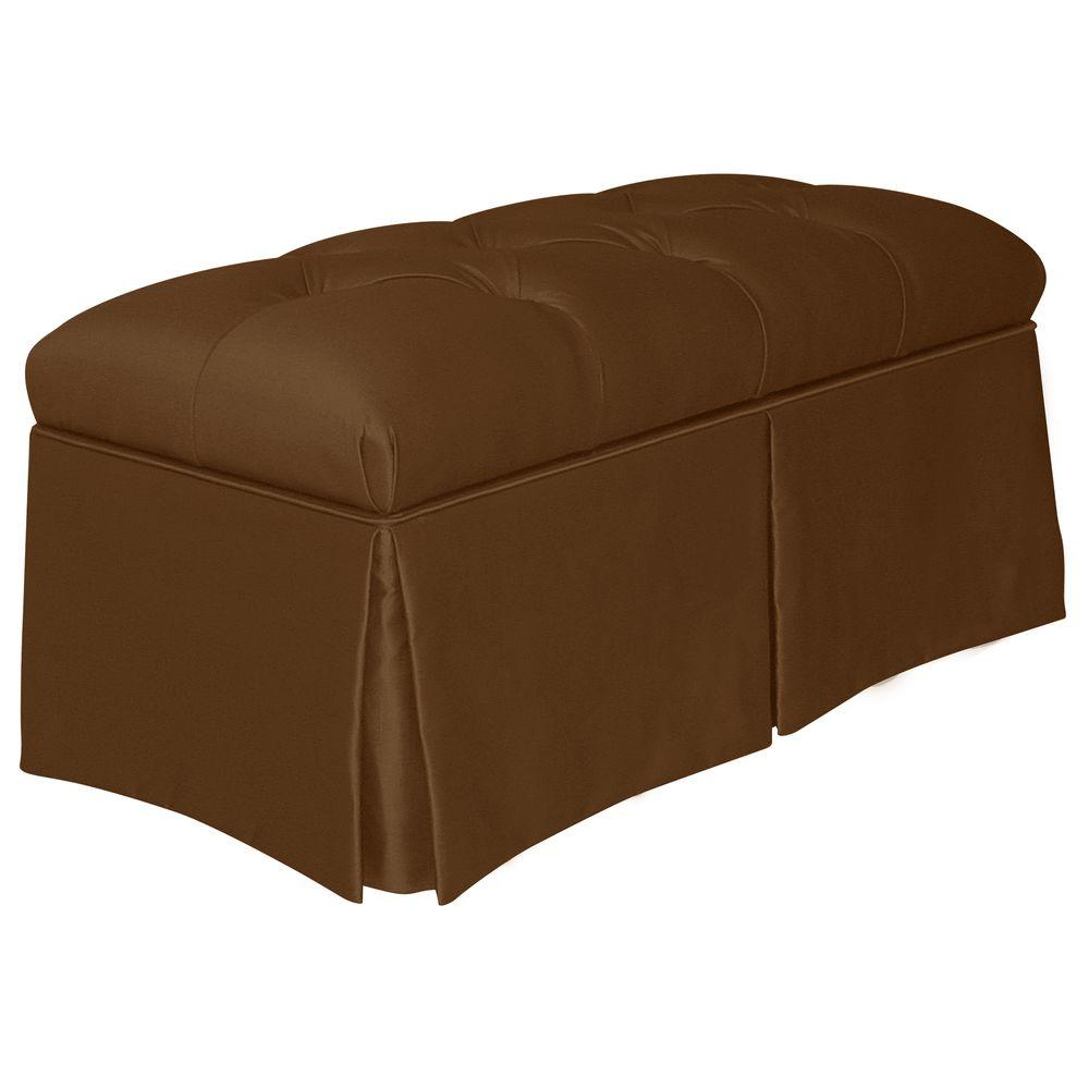 Home decorators collection pippa brown bench 2902skshchoc for Home decorators bench