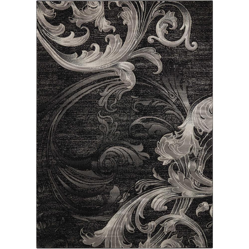 Nourison Soho Black/Grey 4 ft. x 6 ft. Area Rug