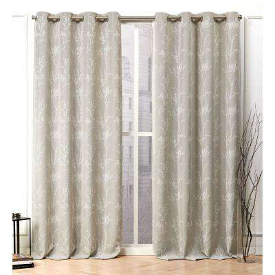 Turion Linen Blackout Grommet Top Curtain Panel - 52 in. W x 96 in. L (2-Panel)