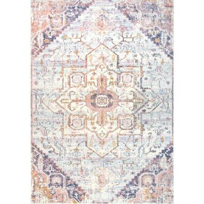 Rosette Vintage Tribal Blush 4 ft. x 6 ft.  Area Rug