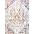 Rosette Vintage Tribal Blush 5 ft. x 8 ft.  Area Rug