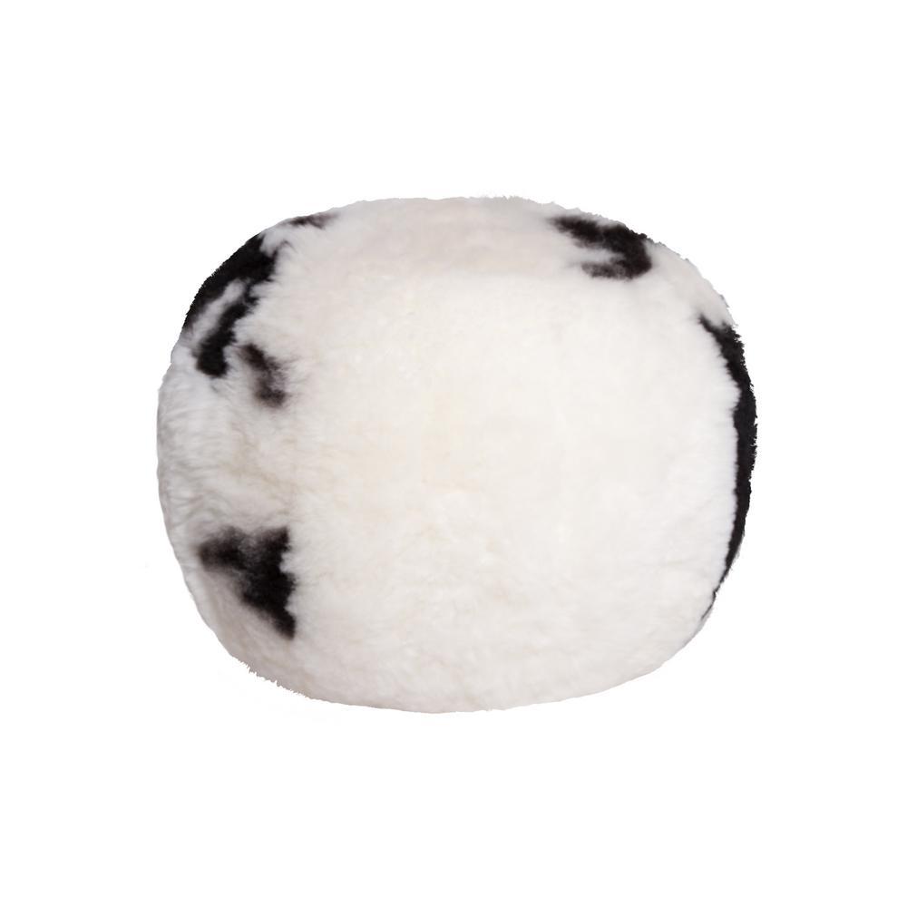 Icelandic Spotted 14 in. x 11 in. Shorthair Sheepskin Floor Cushion