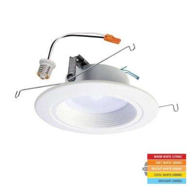 RL 5 in. and 6 in. White Integrated LED Recessed Ceiling Light Retrofit with Selectable Color Temperature (2700K-5000K)