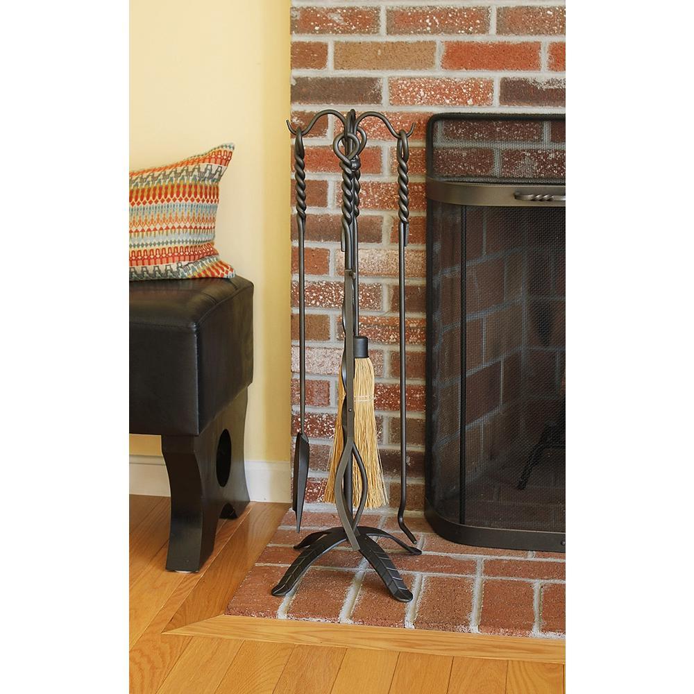 Minuteman International Rope Design Brush Extra Long Single Fireplace Tool