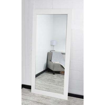 Signature 32 in. x 66 in. Framed Single Wall Mirror in White