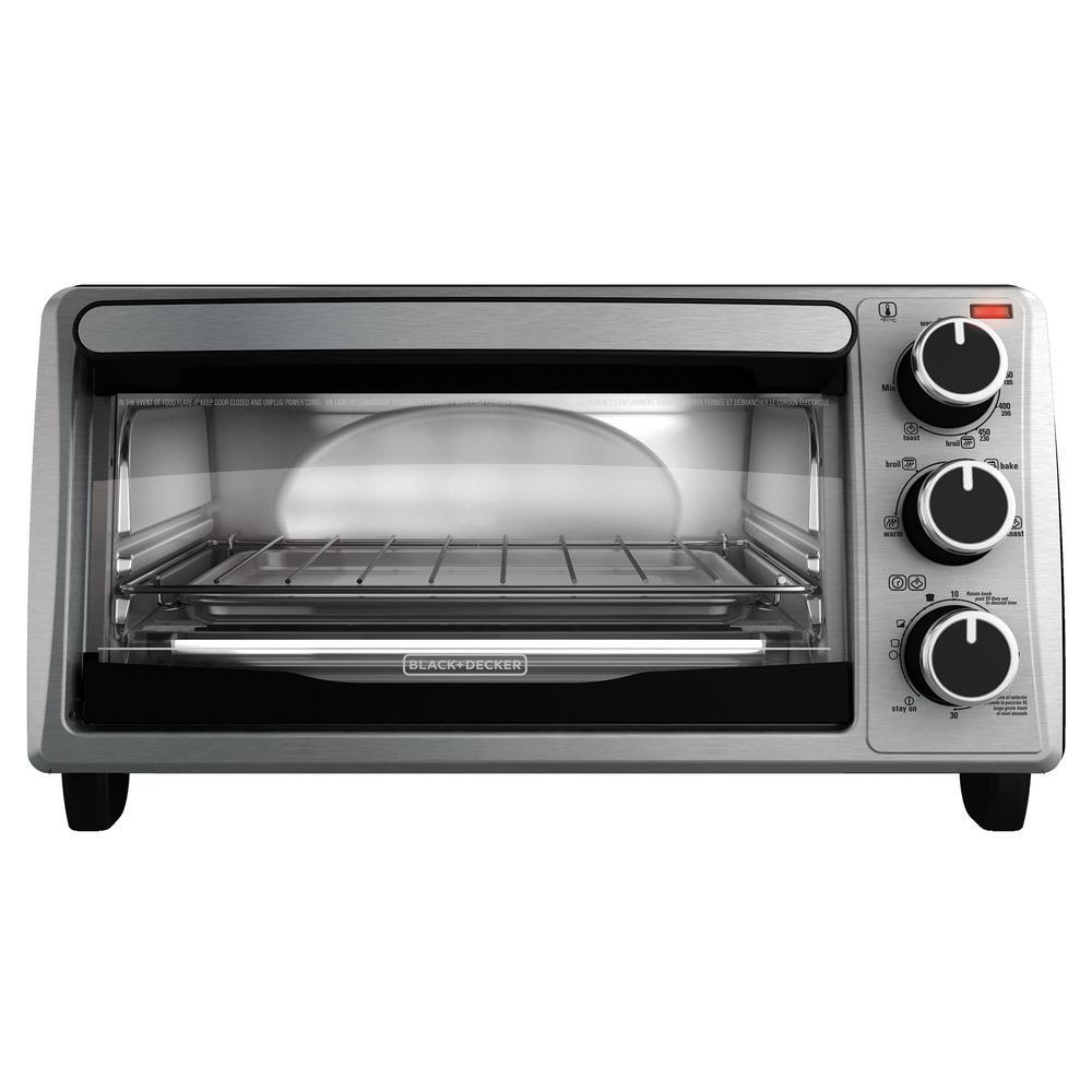 4-Slice Stainless Steel Toaster Oven