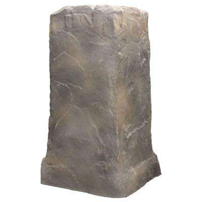 Monolith Column Resin Landscape Rock in Deluxe Natural Textured Finish