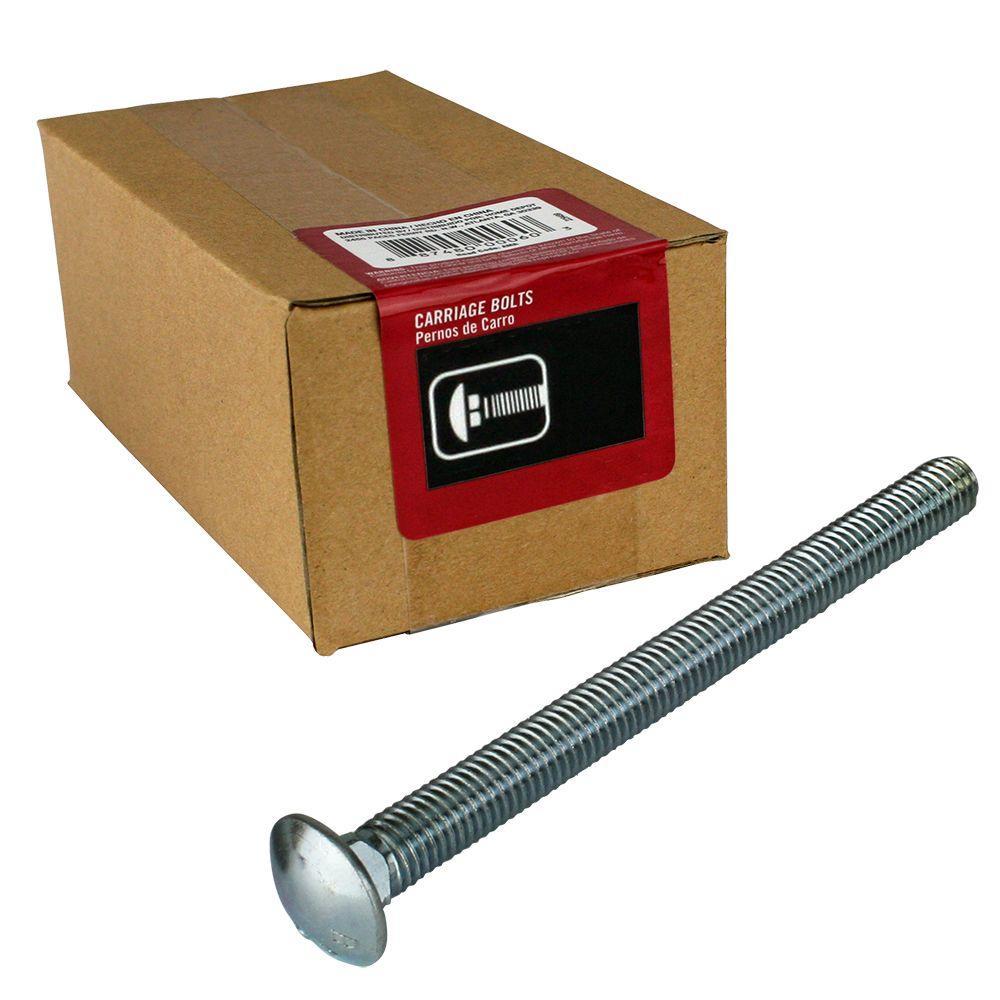 Everbilt 3/8 inch x 6 inch Zinc Carriage Bolt (25-Box) by Everbilt