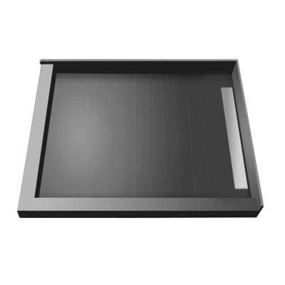 48 in. x 48 in. Double Threshold Shower Base with Right Drain and Tileable Trench Grate