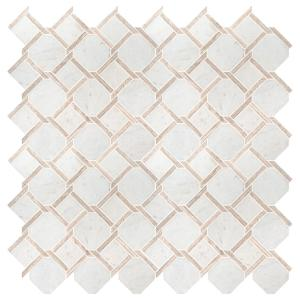 Marbella Lynx 12 in. x 12 in x 10mm Polished Marble Mesh-Mounted Mosaic Tile (10 sq. ft. / case)