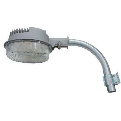 40-Watt Gray Integrated LED Outdoor Dusk-To-Dawn Area Light