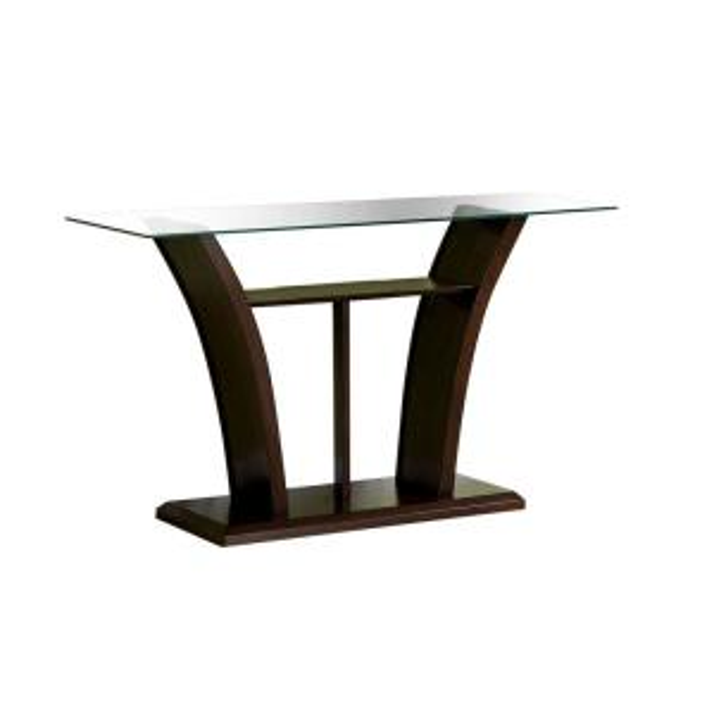 Ali Dark Cherry Glass Sofa Table