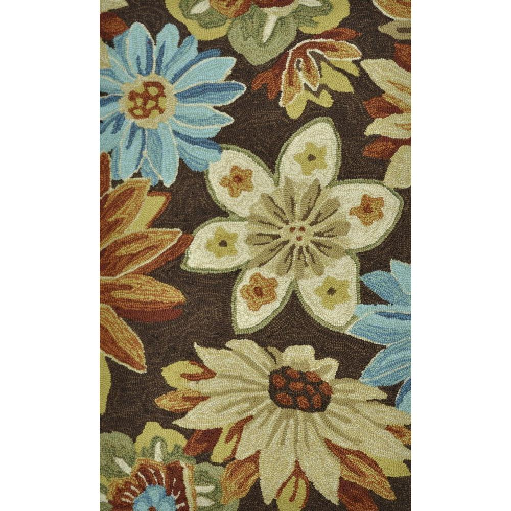 Loloi Rugs Summerton Life Style Collection Chocolate Floral 2 ft. 3 in. x 3 ft. 9 in. Accent Rug-DISCONTINUED