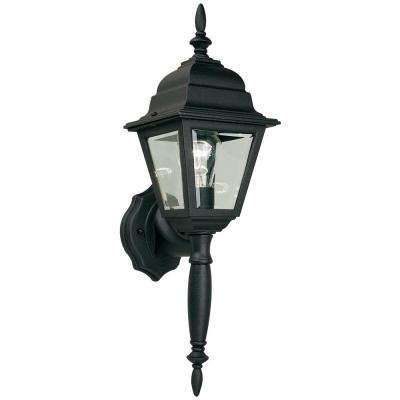 1-Light Black Outdoor Wall Lamp