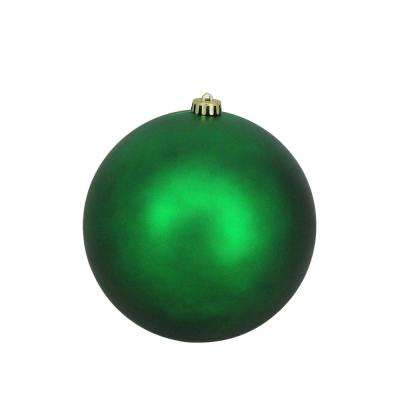 8 in. (200 mm) Green Xmas Commercial Shatterproof Matte Christmas Ball Ornament