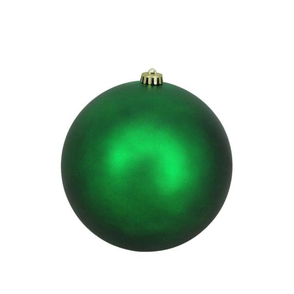 Northlight 8 In 200 Mm Green Xmas Commercial Shatterproof Matte Christmas Ball Ornament 32911636 The Home Depot