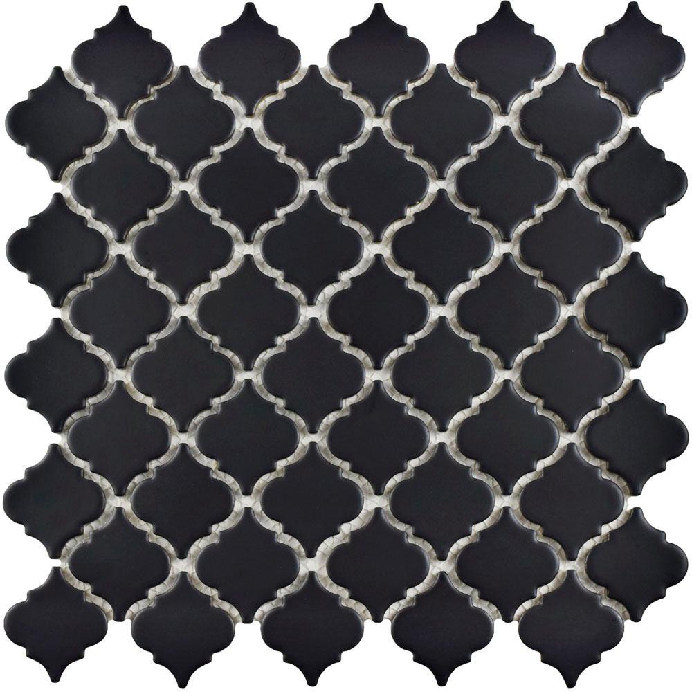 Hudson Tangier Matte Black 12-3/8 in. x 12-1/2 in. x 5