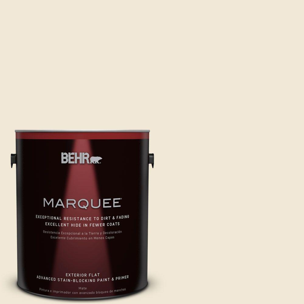 1-gal. #YL-W8 Yucca White Flat Exterior Paint