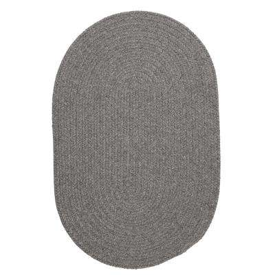Edward Gray 3 ft. x 5 ft. Braided Oval Area Rug