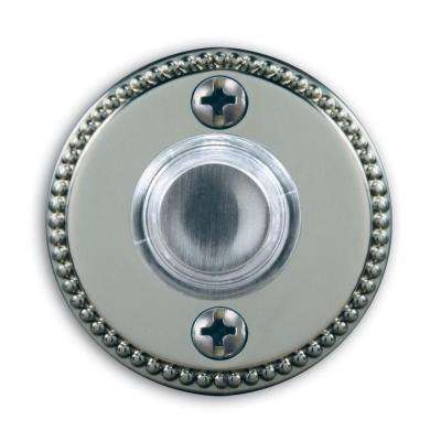 Wired Lighted Push Button Satin Nickel Finish