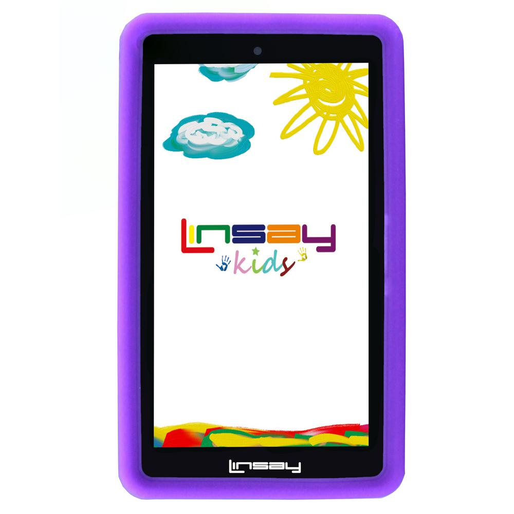 LINSAY 7 in. 2GB RAM 16GB Android 9.0 Pie Quad Core Tablet with Purple Kids Defender Case was $119.99 now $59.99 (50.0% off)