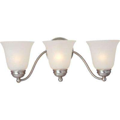 Basix 3-Light Satin Nickel Bath Vanity Light