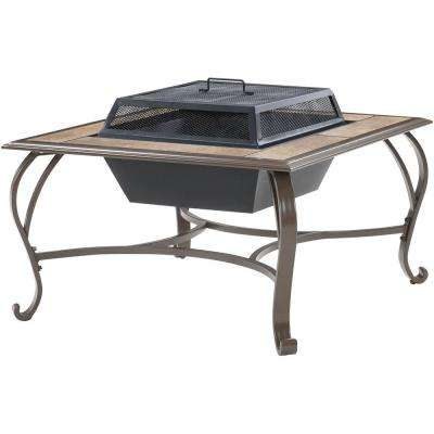 38 in. Wood-Burning Fire Pit Coffee Table