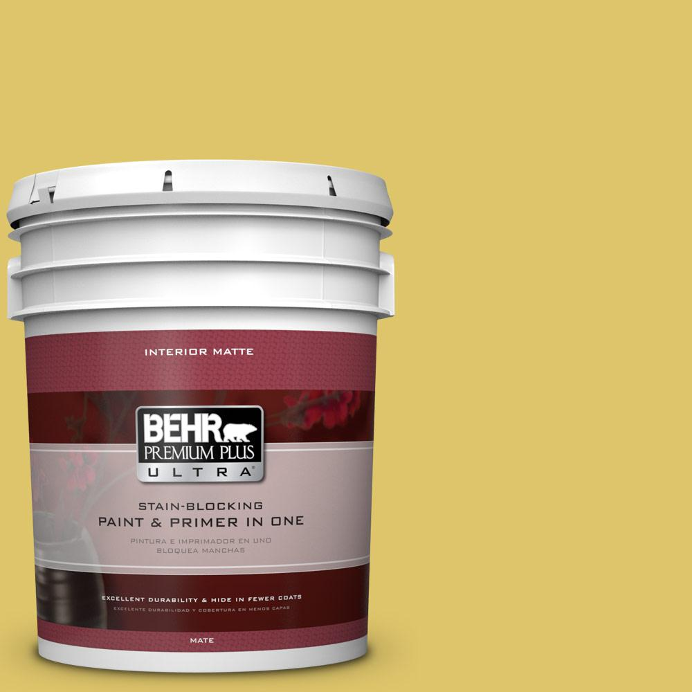 5 gal. #380D-5 California Dreaming Matte Interior Paint and Primer in