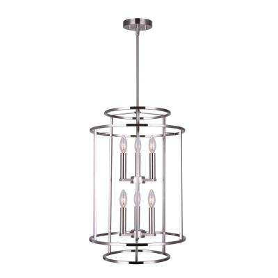 Luca 6-Light Brushed Nickel Chandelier