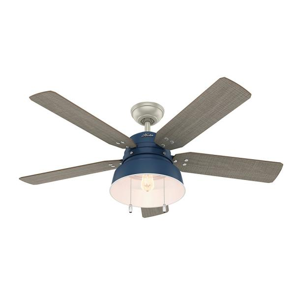 Mill Valley 52 in. LED Indoor/Outdoor Indigo Blue Ceiling Fan with Light