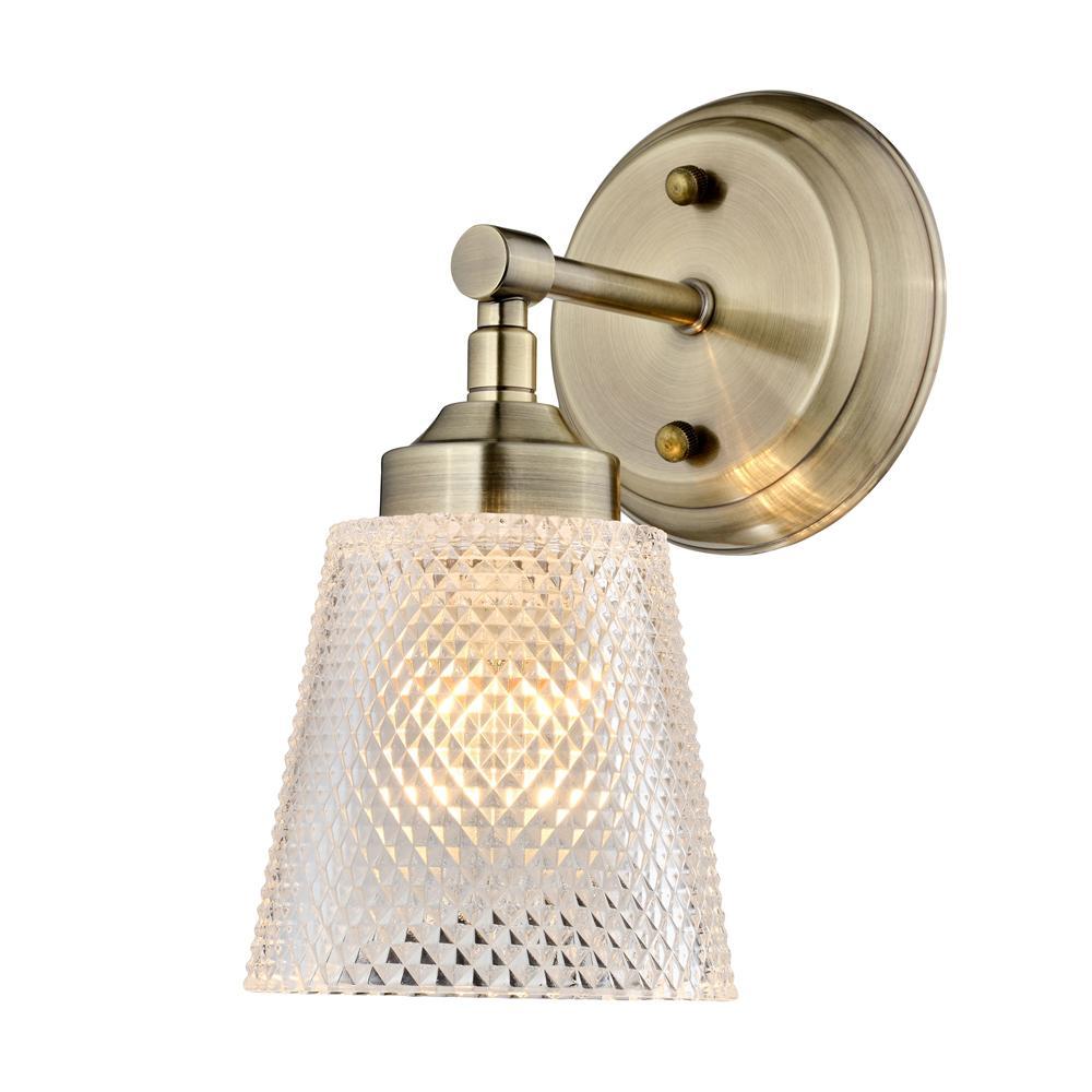 Westport 1-Light Antique Brass Bath Light