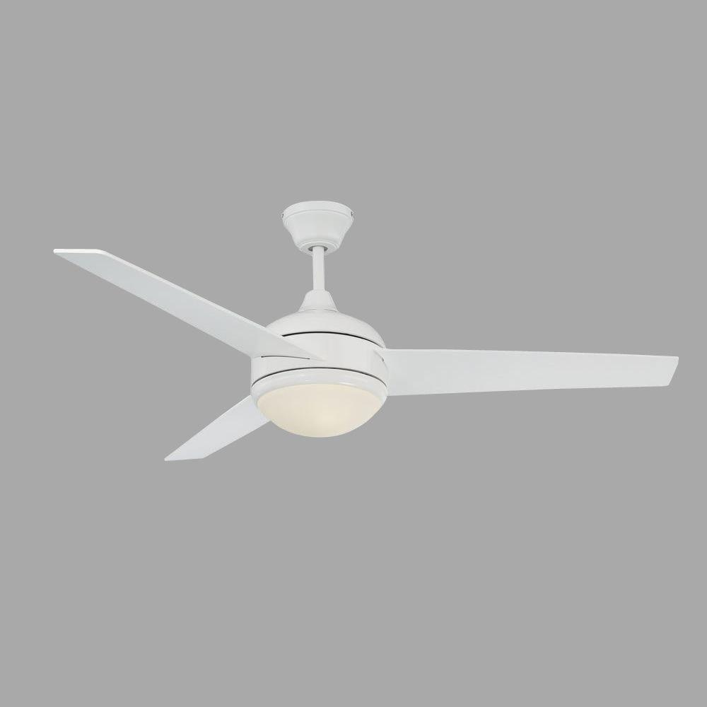 Radionic hi tech skylar 52 in white ceiling fan with light kit and white ceiling fan with light kit and 3 blades aloadofball Image collections