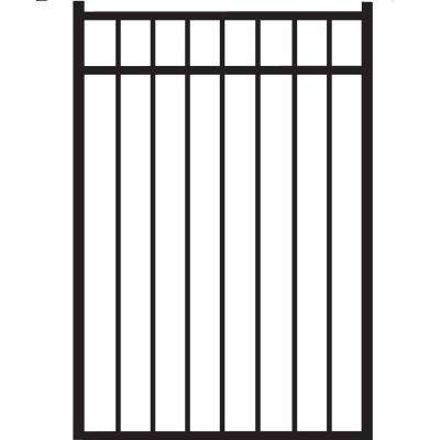 Natural Reflections Standard-Duty 3 ft. W x 4.5 ft. H Black Aluminum Straight Pre-Assembled Fence Gate