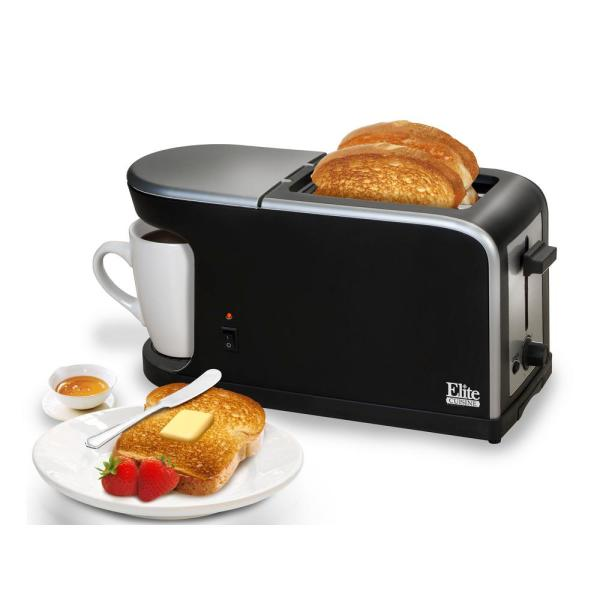 Toaster 2 Slice Wide Slot Bread Bagel Dual Function Breakfast Cool Touch White