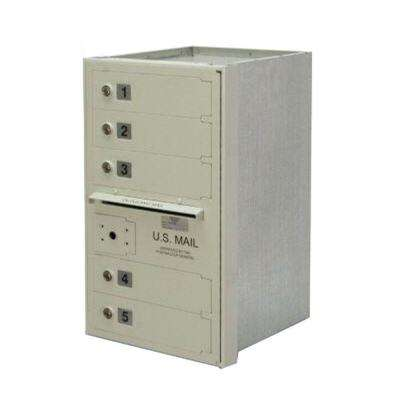 5-Compartment Wall-Mount Horizontal Mailbox
