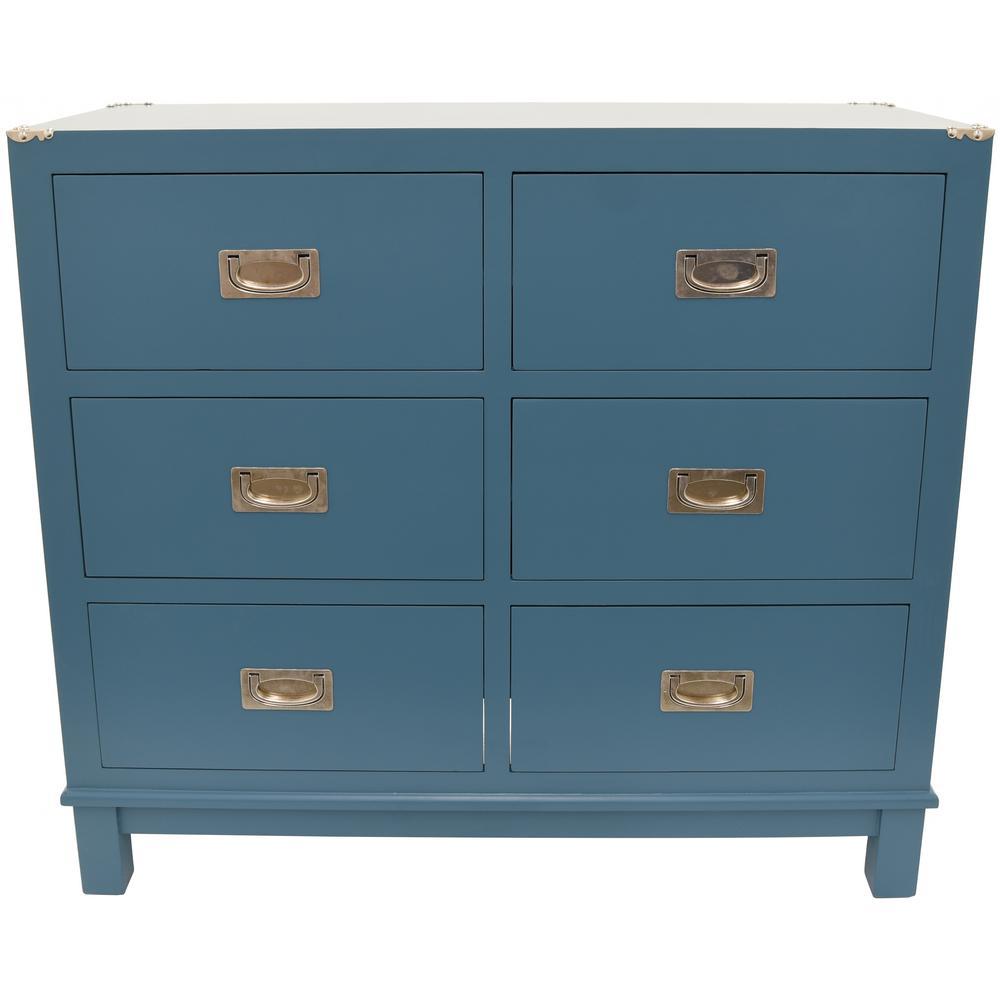 Blue Wood Cabinet