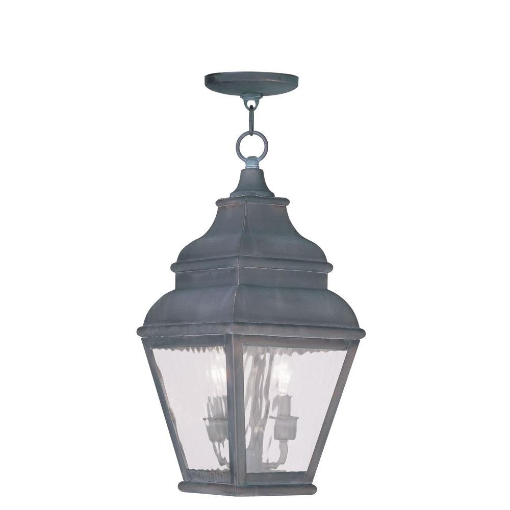 Exeter 2 Light Charcoal Outdoor Pendant Lantern