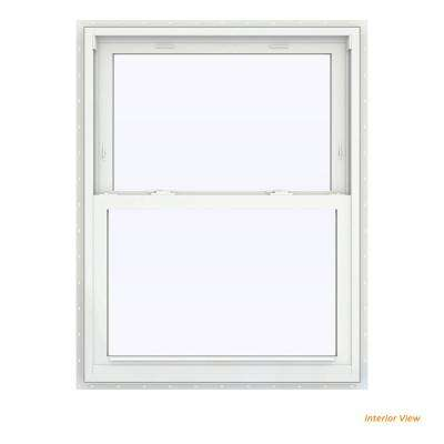 31.5 in. x 47.5 in. V-2500 Series Bronze Painted Vinyl Double Hung Window with BetterVue Mesh Screen